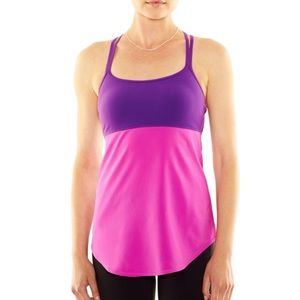 Lucy Colorful Workout Tank With Sports Bra